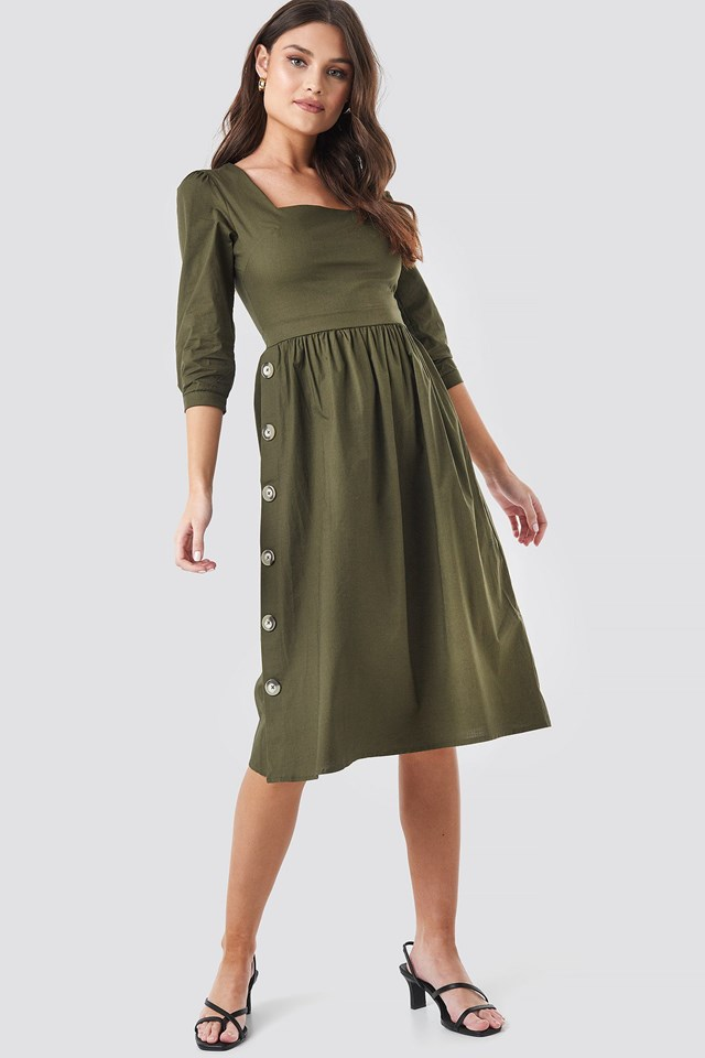 Green Midi Dress Outfit