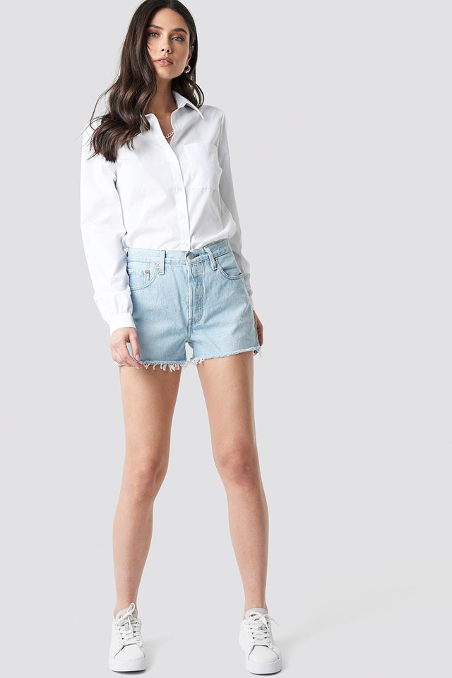 501 High Rise Shorts Outfit