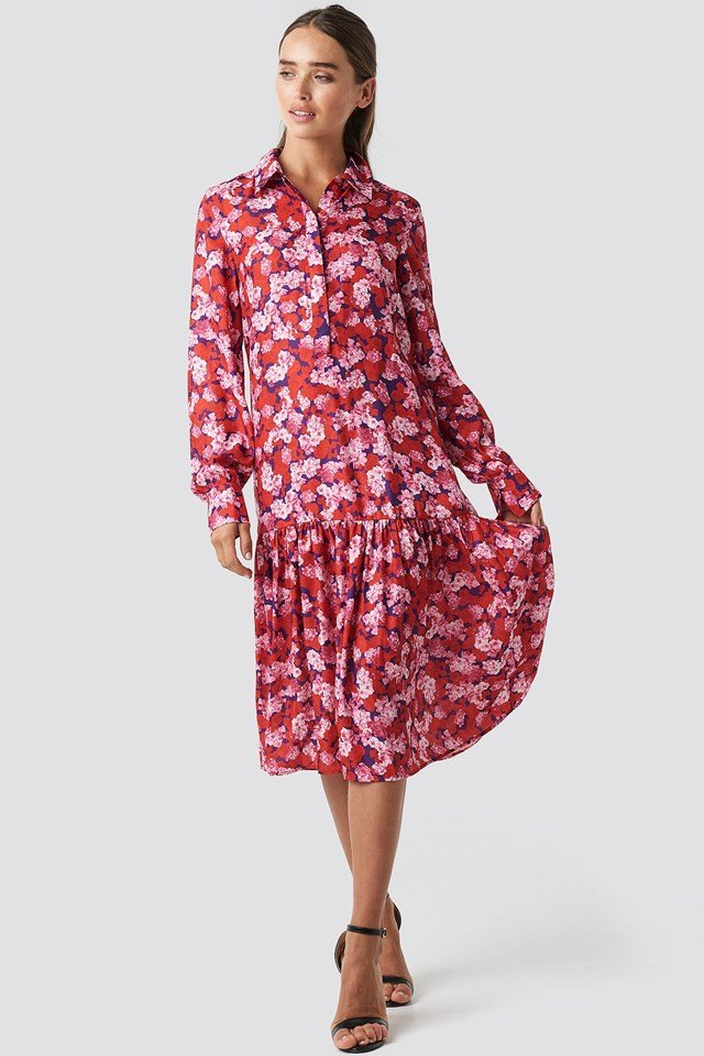 Ankle Length Printed Dress Outfit