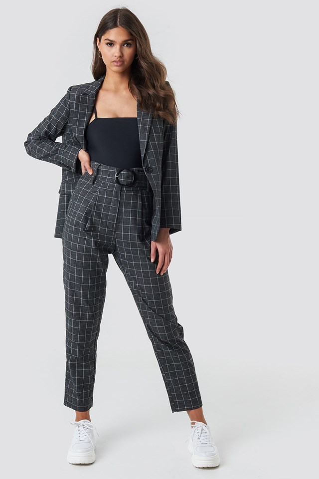Big Check Blazer Outfit