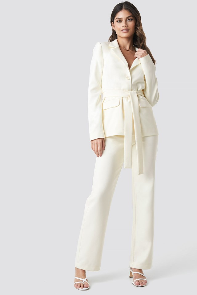 Front Tie Blazer outfit
