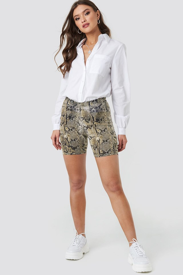 Animal Printed Cycle Shorts Outfit