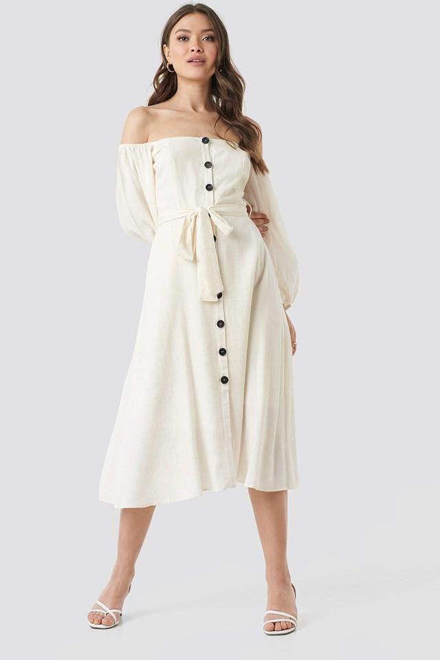 Tulum Off Shoulder Midi Dress Outfit