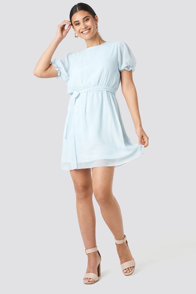 Short Sleeve Chiffon Dress Outfit