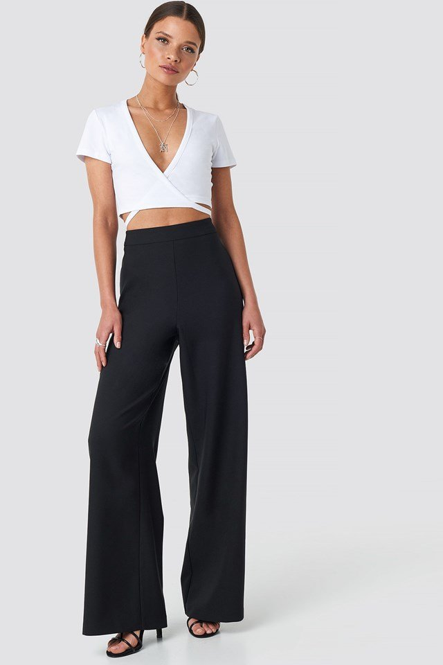 Wide Leg Pants Black Outfit
