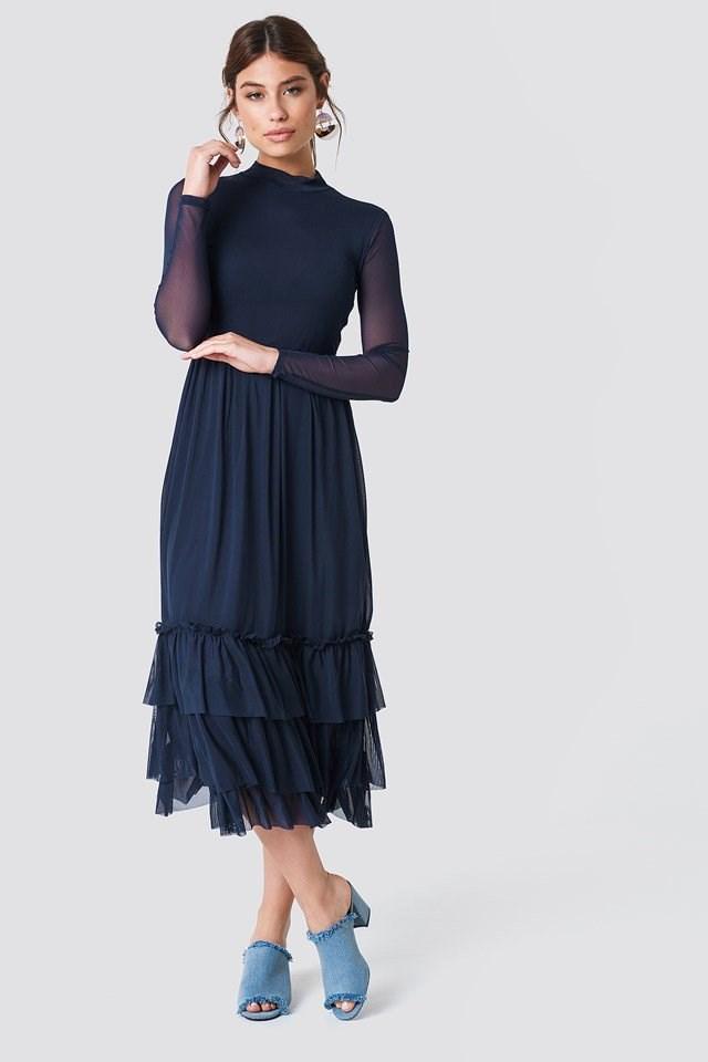 Sophisticated Mesh Dress