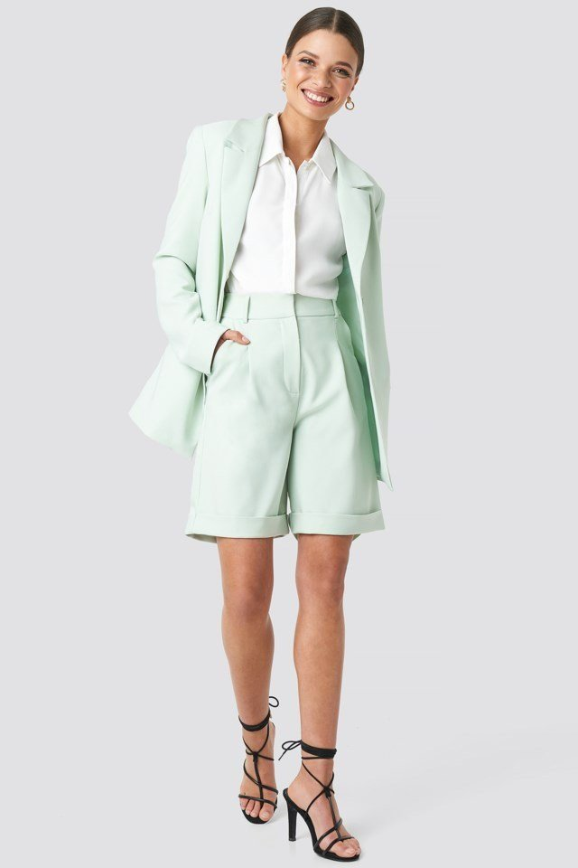 Oversized Blazer Green Outfit