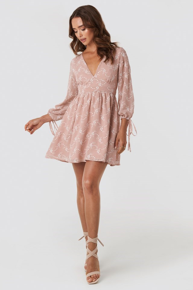 Embroidery Dress Pink Outfit
