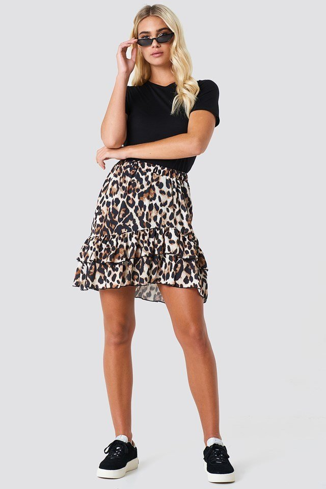 Leopard Skirt Outfit