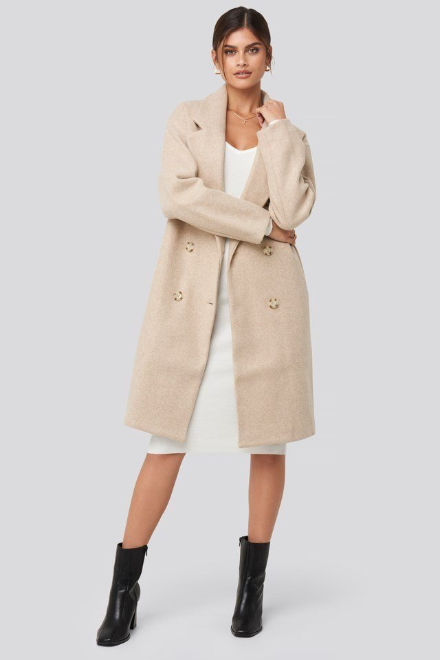 Long Double Breasted Coat Outfit