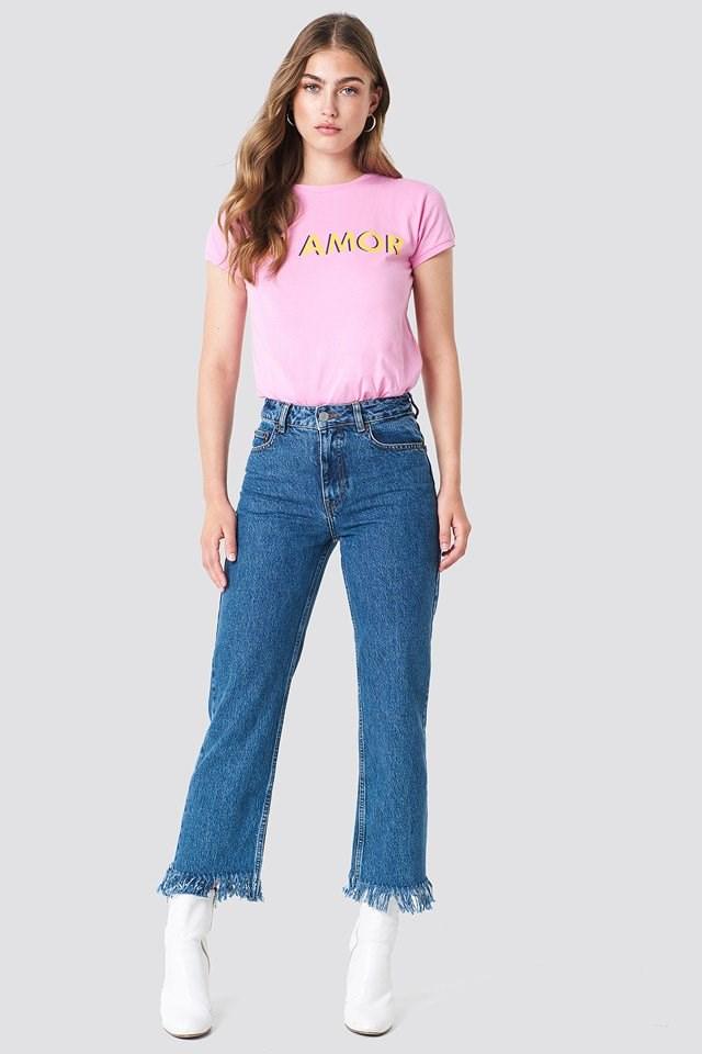 Denim Jeans with Basic T-Shirt
