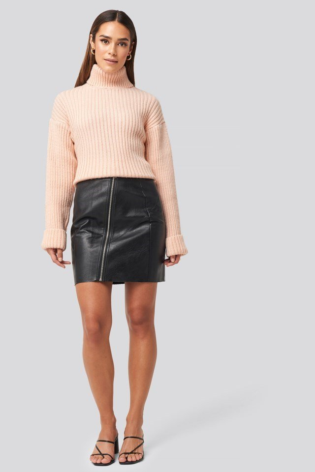 Nellie PU Skirt Look