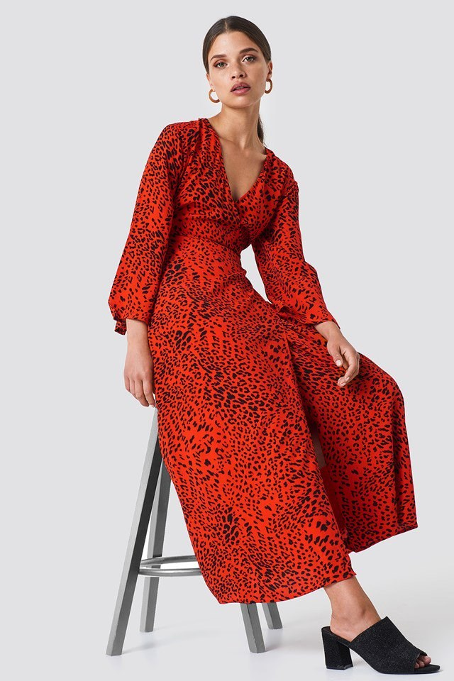 V-Neck Dress Outfit