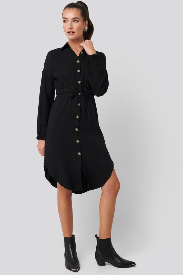 Buttoned Shirt Dress Look
