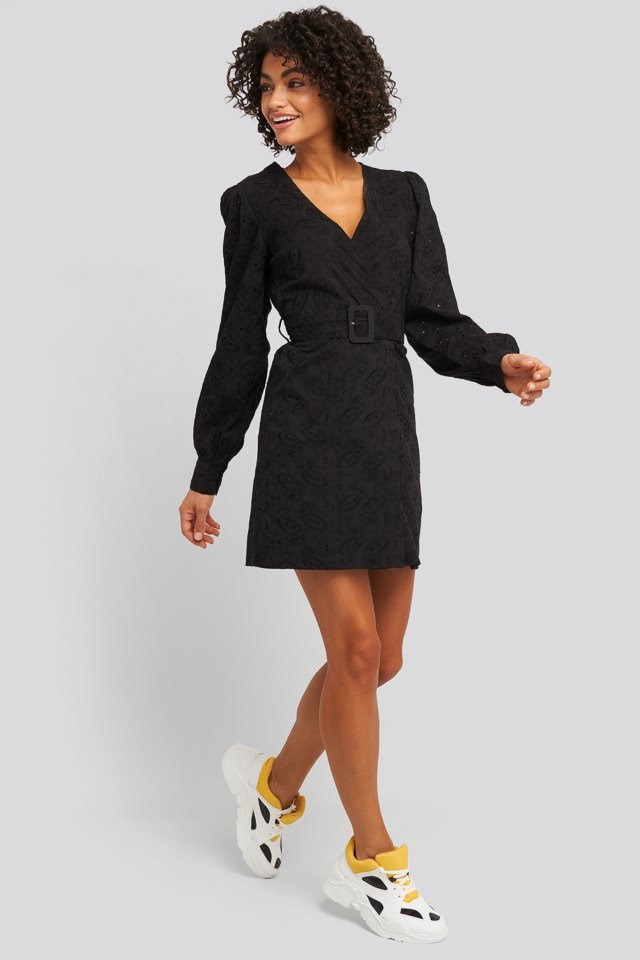 Anglaise Overlap Dress Look