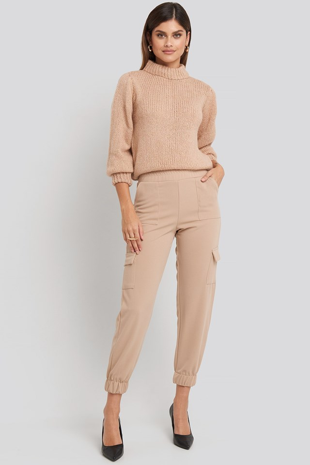 Nupa Pants Beige Outfit.