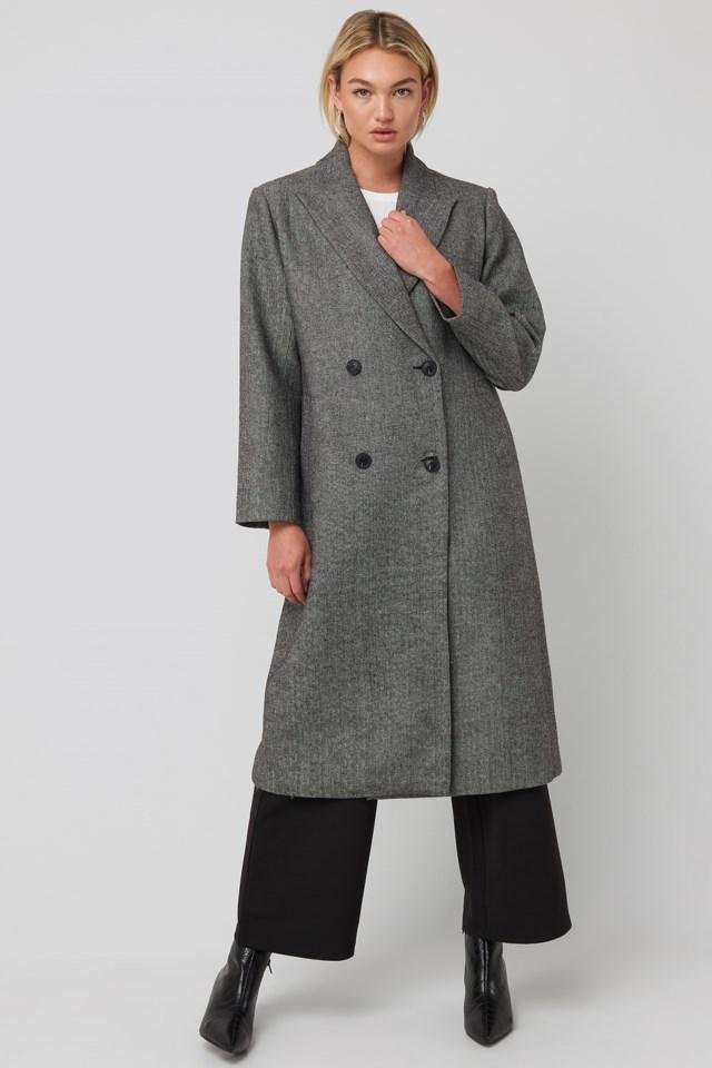 Oversized Herringbone Coat Outfit