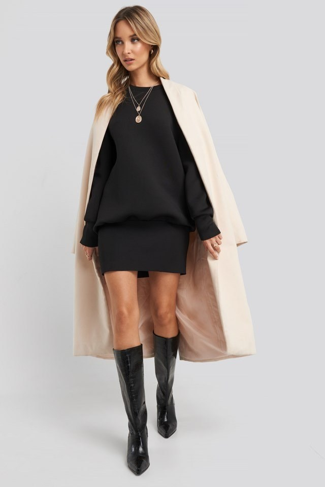 Oversized Sweatshirt Dress Black Outfit
