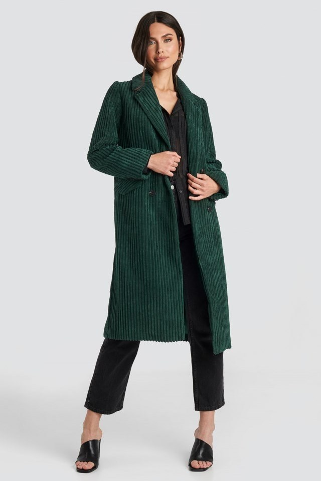 Corduroy Coat Green Outfit