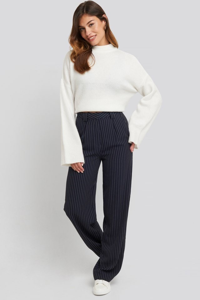 Flared Striped Pants Look
