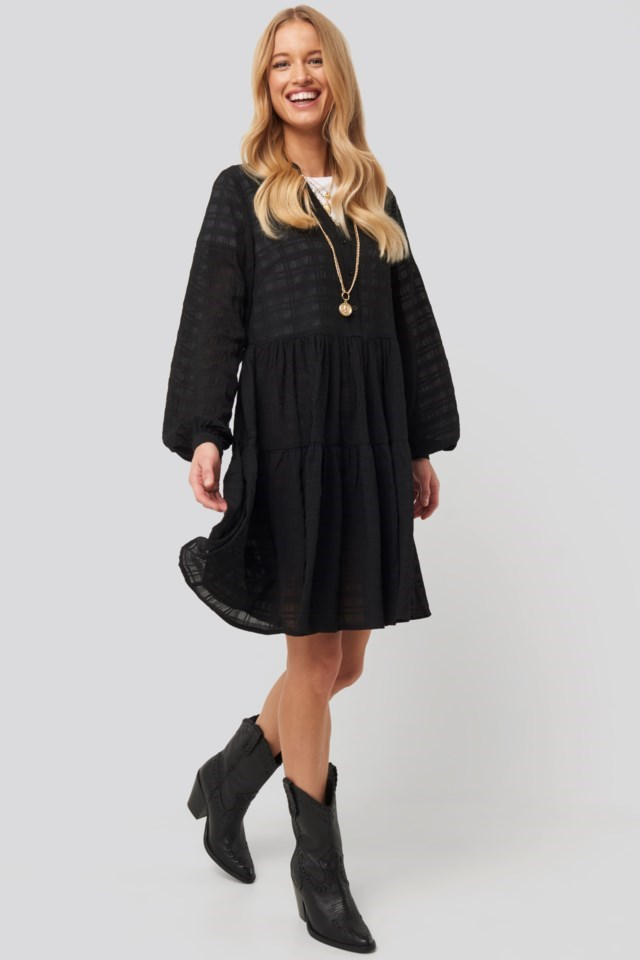 Structure A-Line Dress Black Outfit