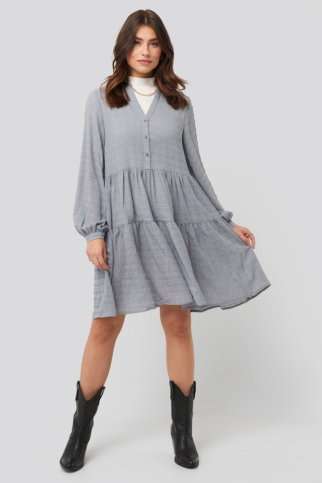 Structure A-Line Dress Blue Outfit