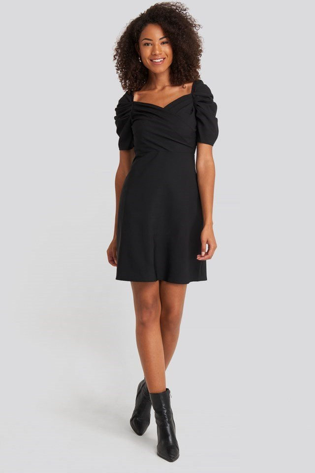 Sleeves Flywheel Mini Dress Outfit