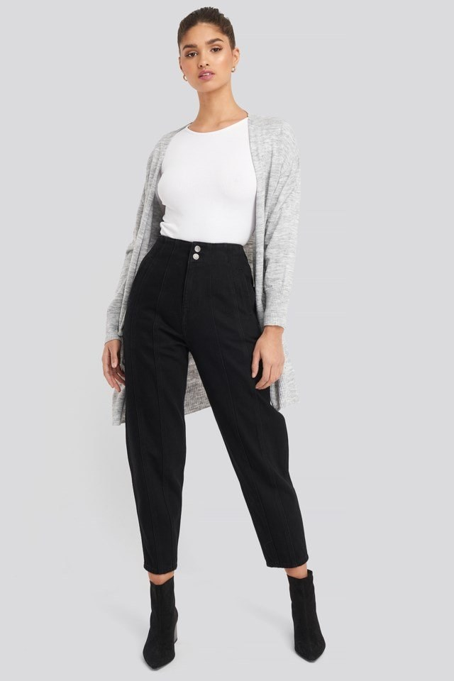 Seam Detail Slouchy Jeans Outfit.