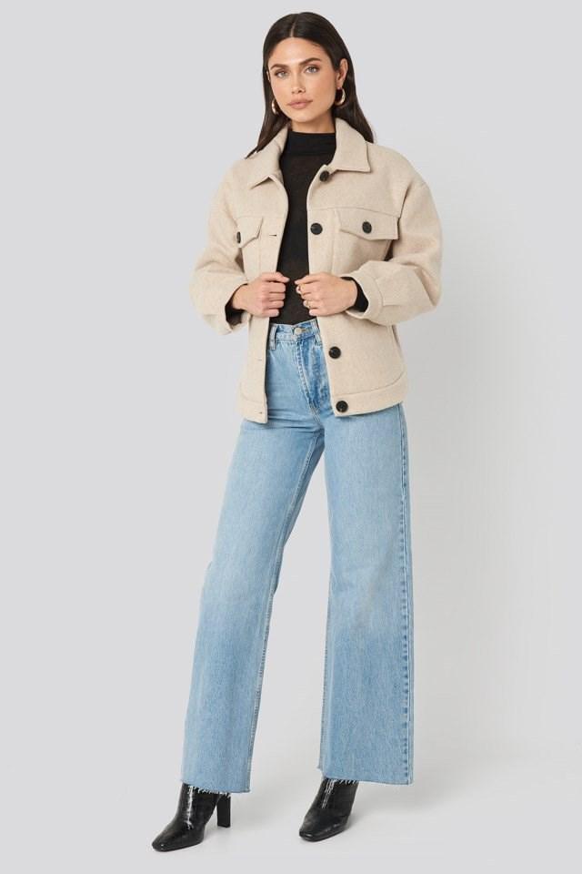Front Pocket Oversized Jacket Outfit
