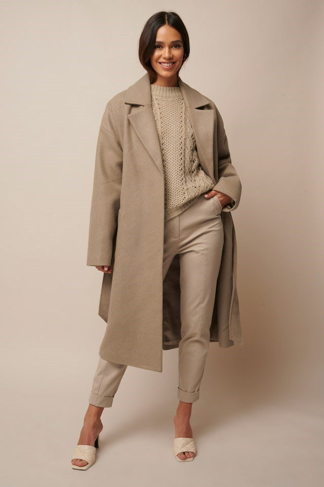 Tied Waist Coat Outfit
