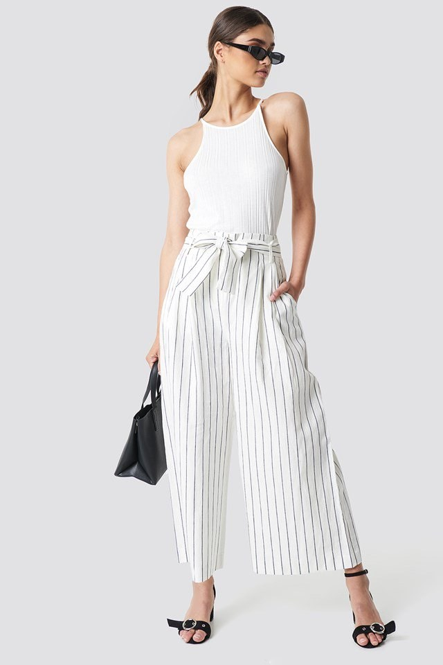 Striped Pants with Basic Top