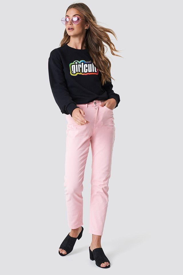 Hoodie with Colorful Jeans
