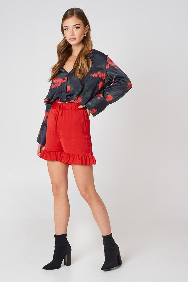 Floral Satin Outfit
