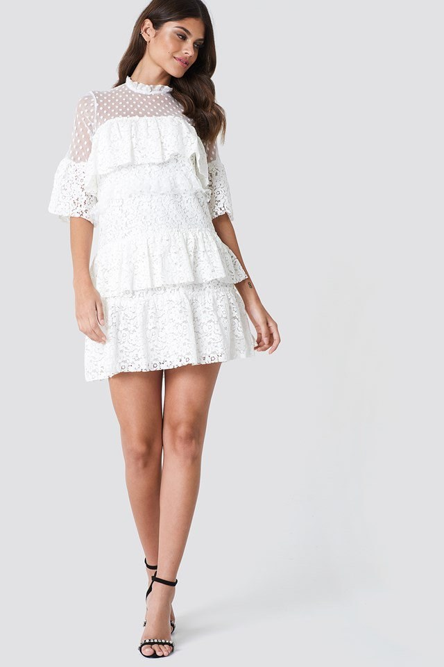 All Over Lace Mini Dress