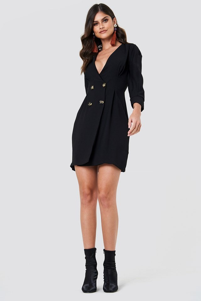Tailored Blazer Dress Outfit
