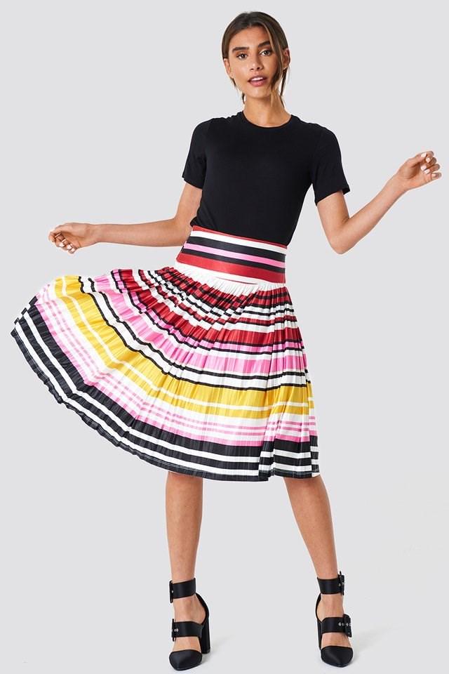 Flowy Colorful Midi Skirt