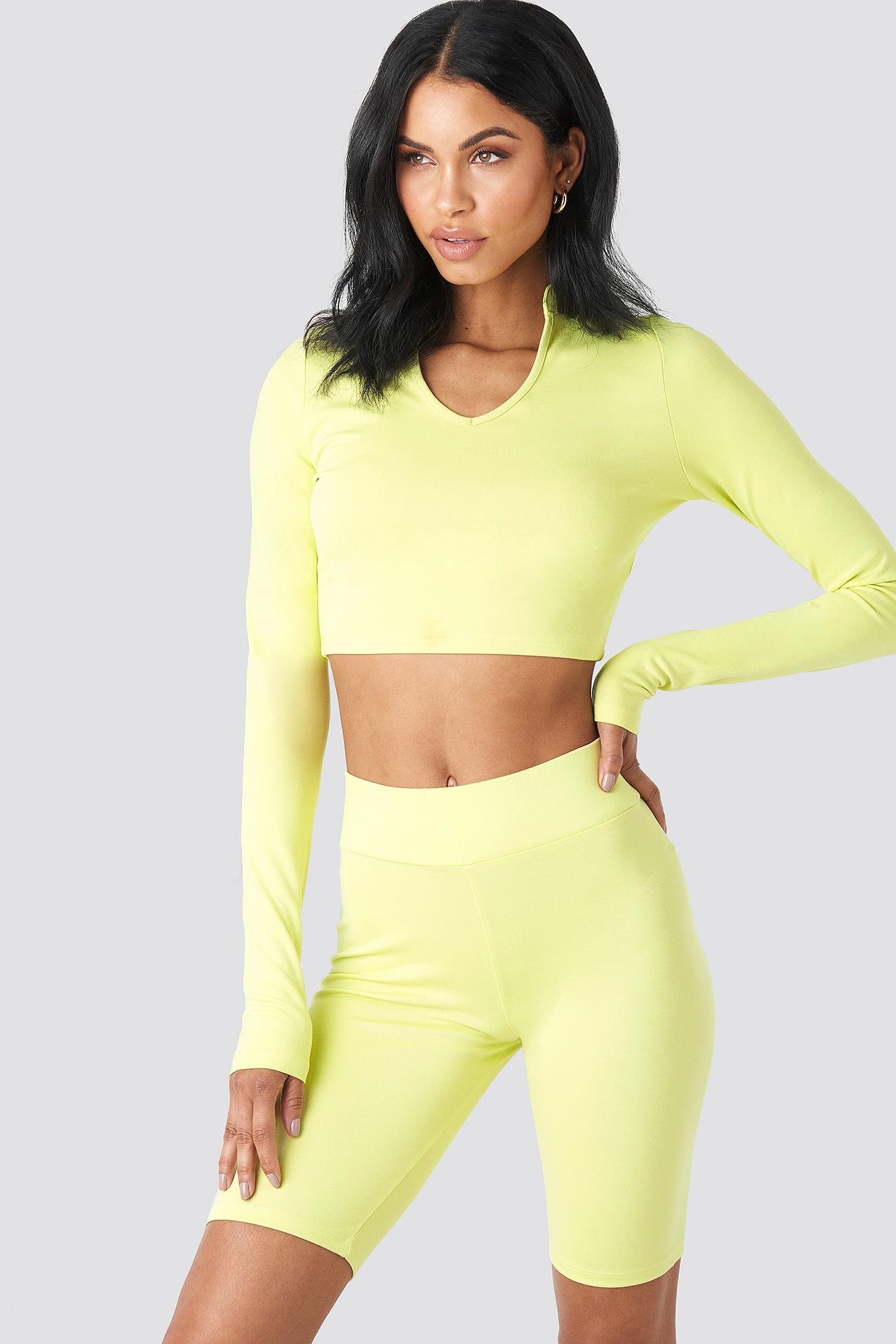 summerburst x na-kd -  Bicycle Shorts - Green