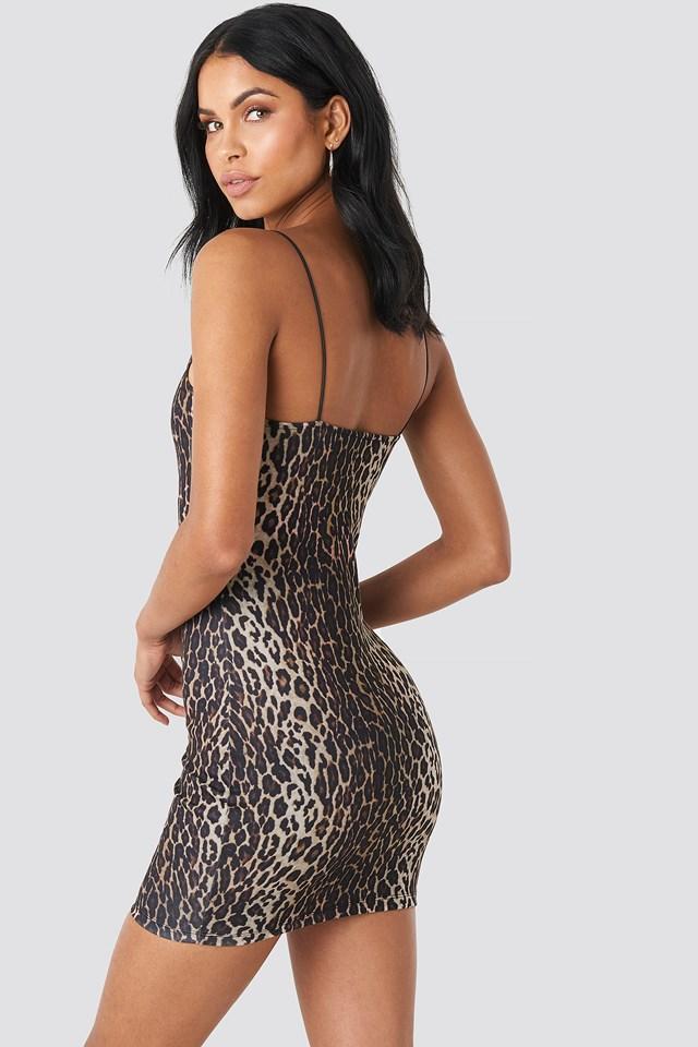 Leopard Spaghetti Strap Dress Leopard