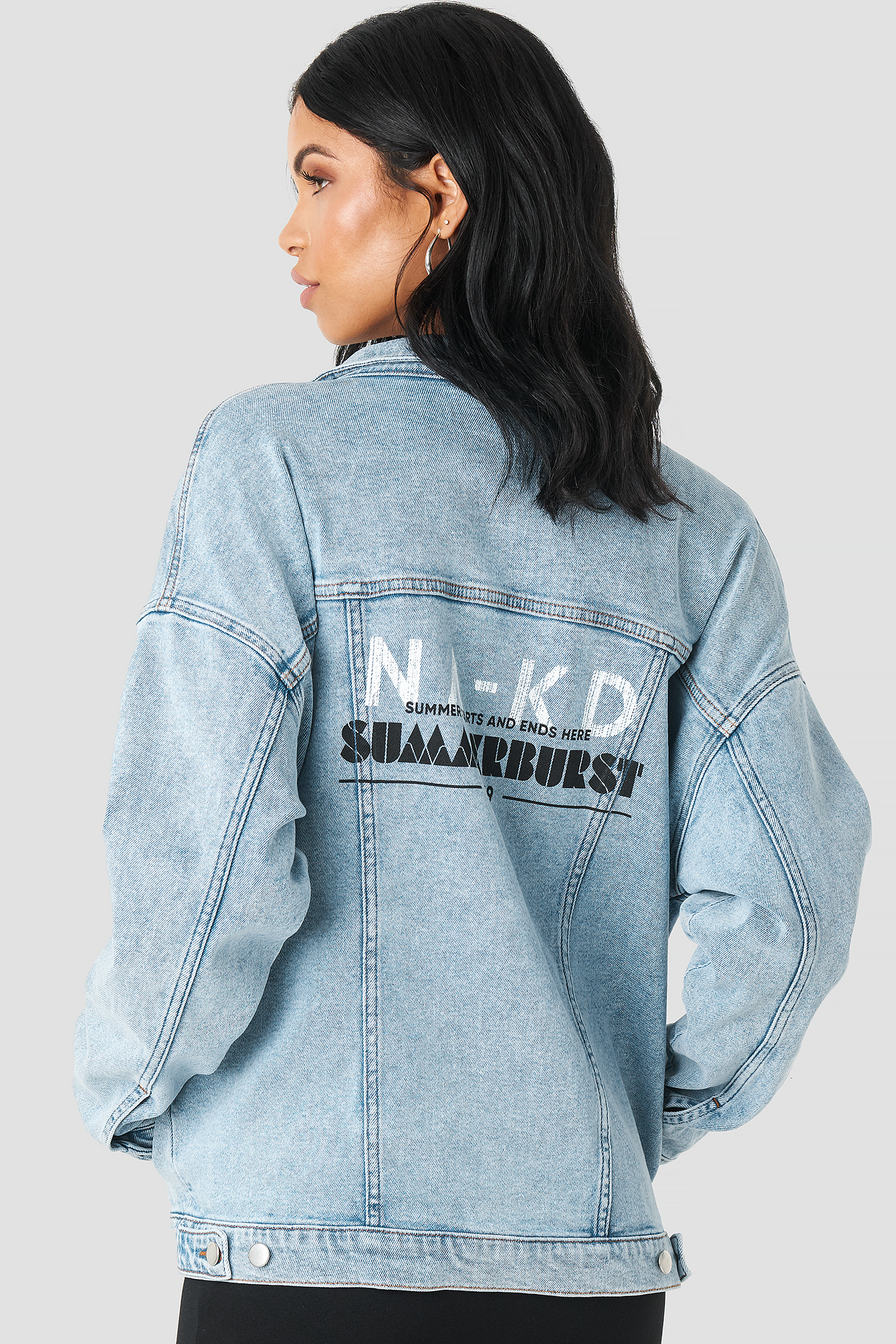 Printed Denim Jacket NA-KD.COM