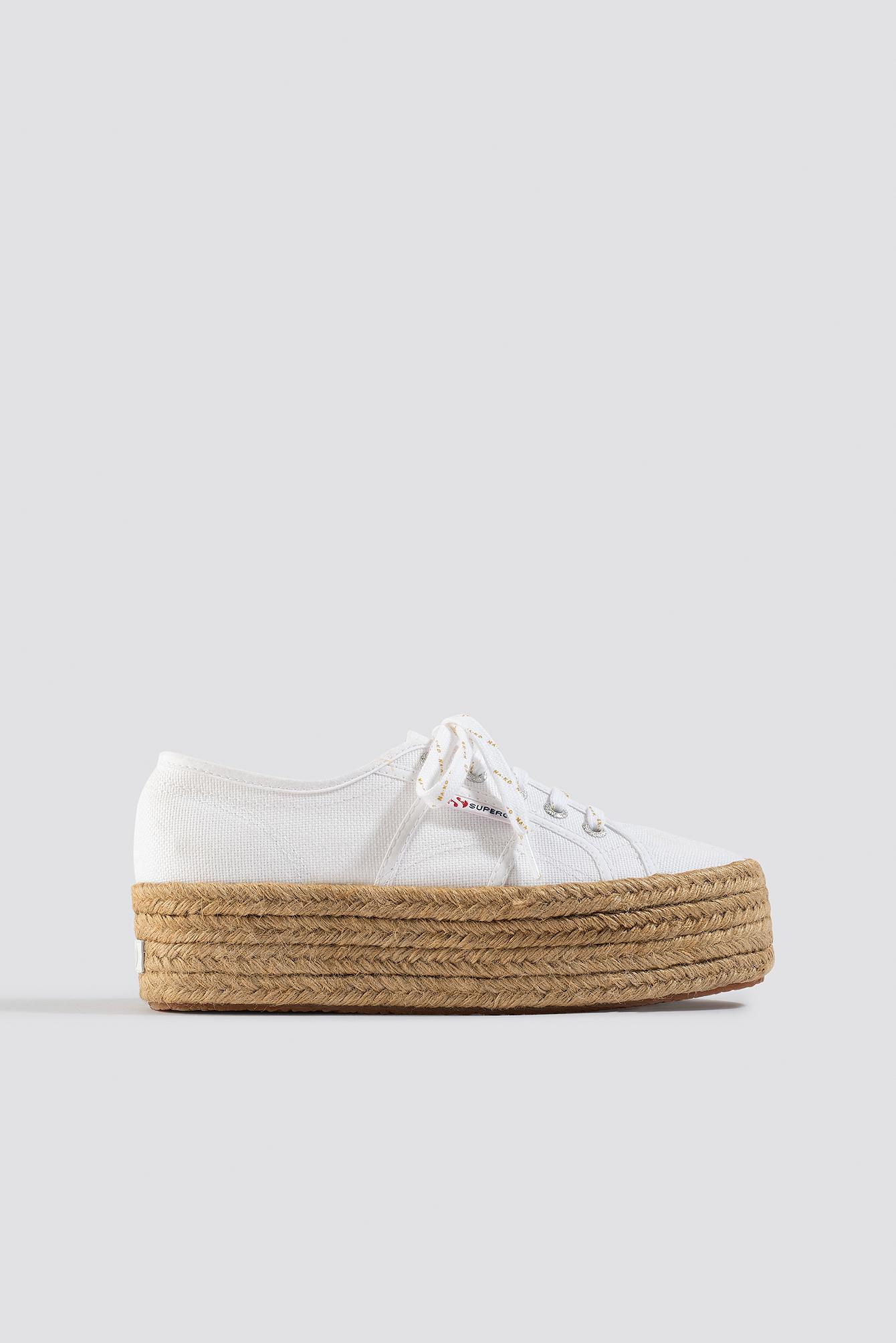 Braided Flatform Sneaker White | na-kd.com