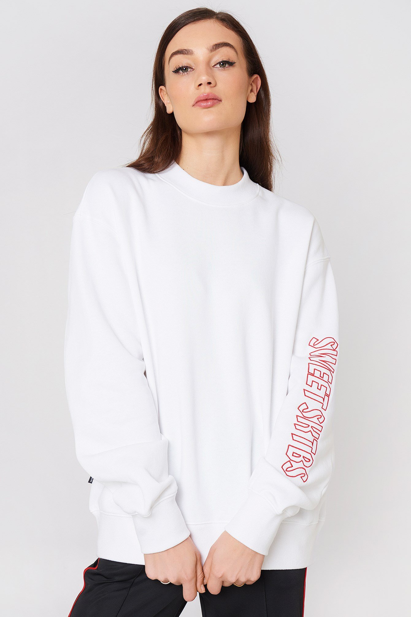 Sweet Turtle Loose Rose Sweater NA-KD.COM