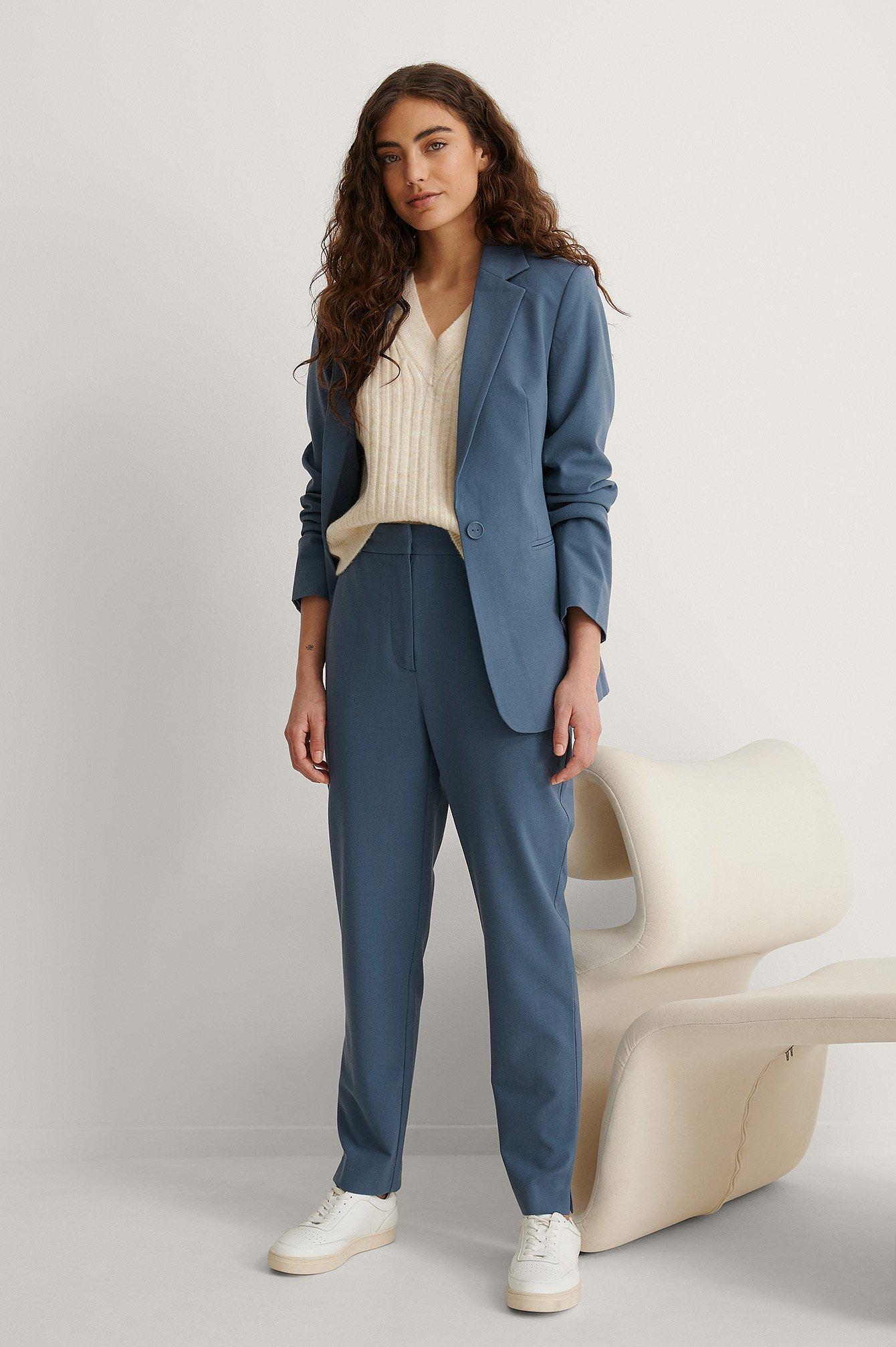 na-kd classic -  Spitz Zulaufende Anzughose - Blue