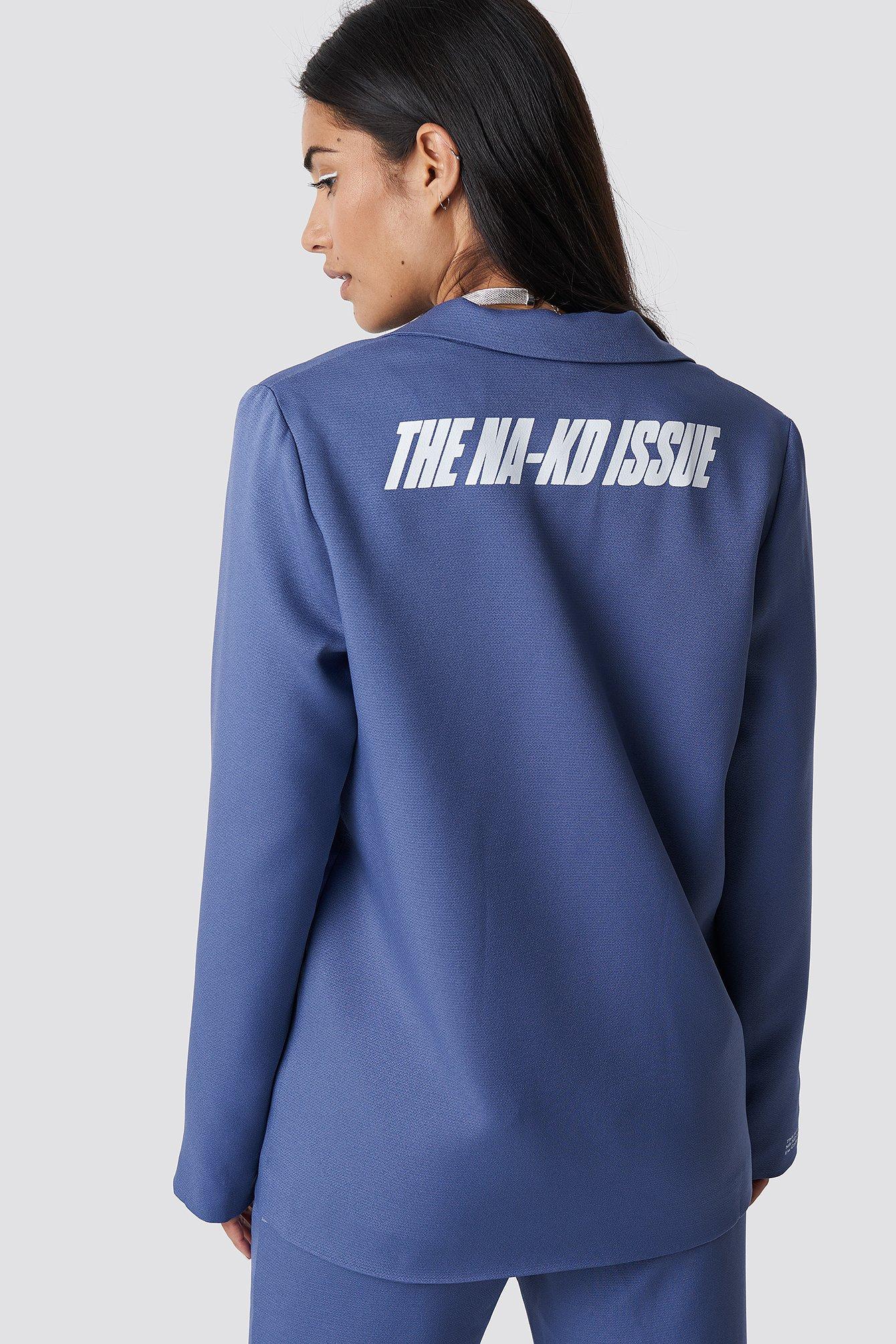 the classy issue x na-kd -  The Classy Blazer - Blue