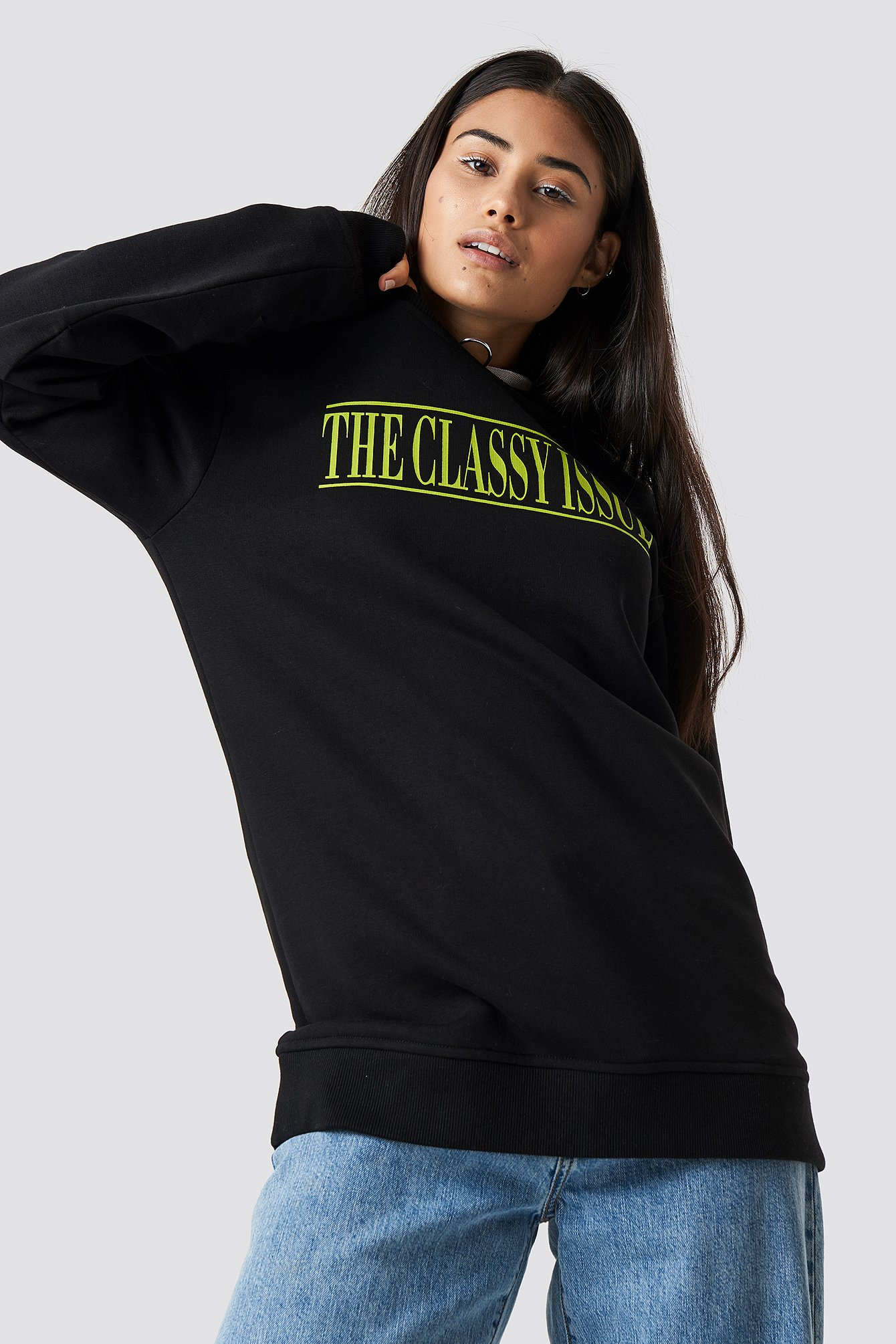 the classy issue x na-kd -  The Classy Excite Unisex Sweater - Black