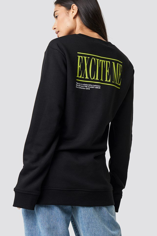 The Classy Excite Unisex Sweater Black