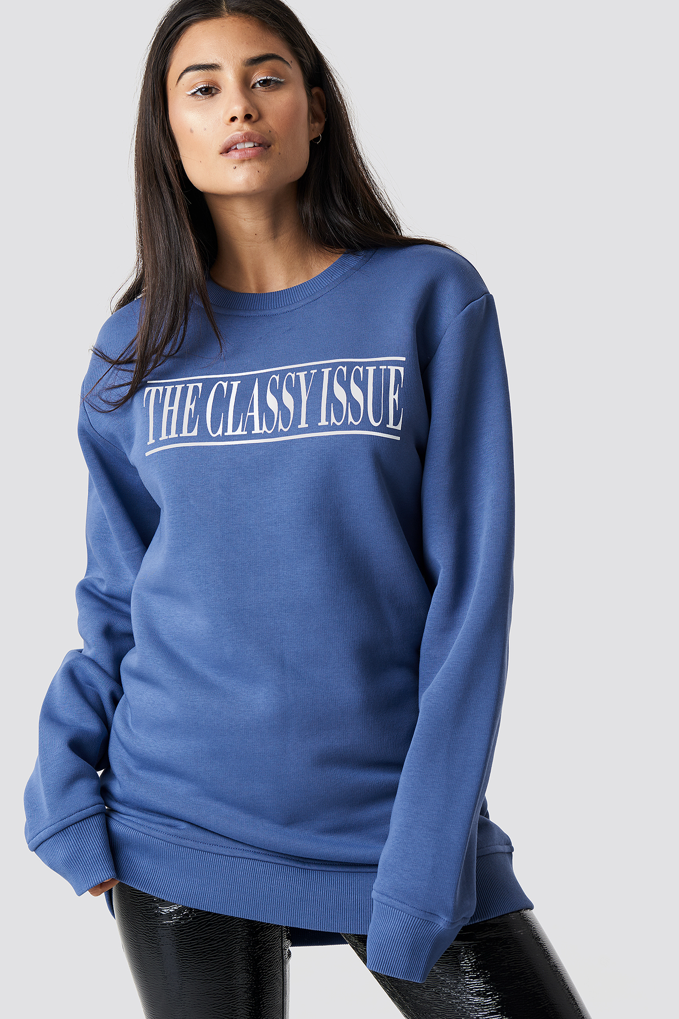 the classy issue x na-kd -  The Classy Excite Unisex Sweater - Blue