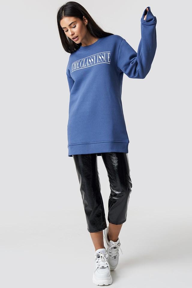 The Classy Excite Unisex Sweater Blue