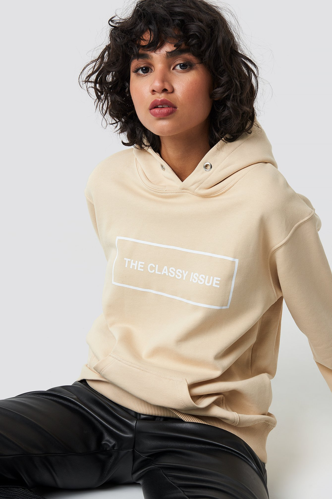 the classy issue -  Classy Hoodie - Beige