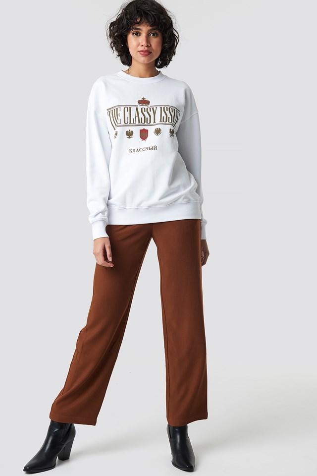 Royal Print Sweater NA-KD.COM