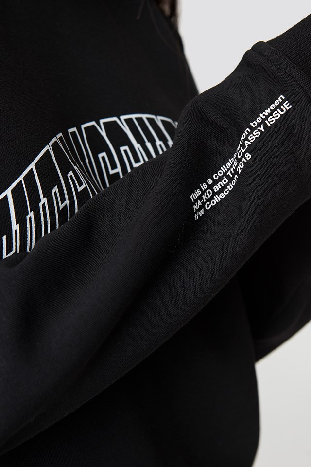 The Classy Logo Unisex Sweater Black